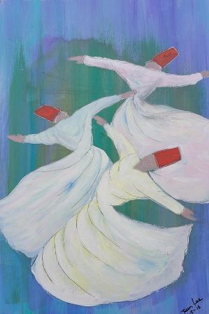 Jean Fassina, Three Sufi Whirling Dervishes In Istanbul