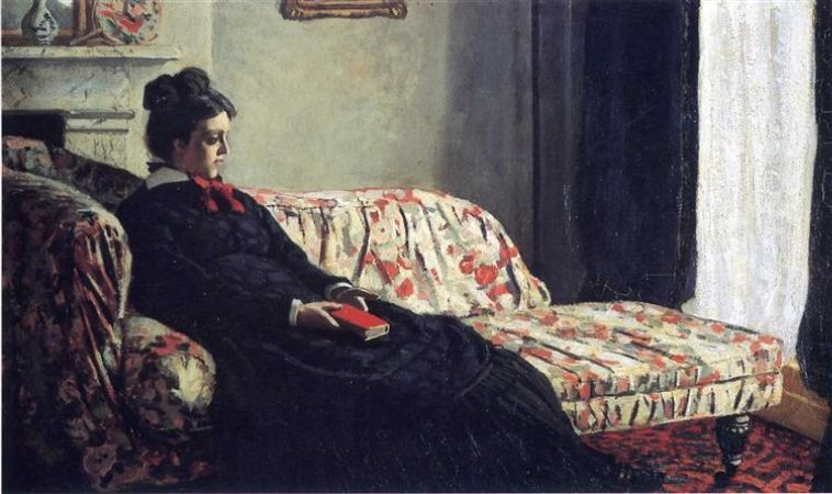Meditation, Claude Monet, 1871
