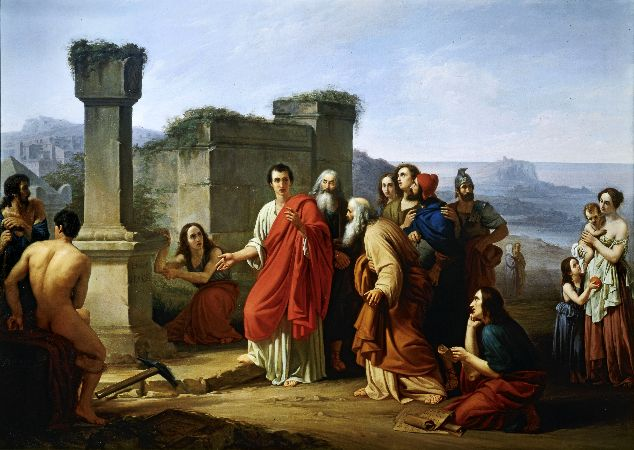 Paul Barbotti, Cicero Discovering Tomb of Archimedes, 1853