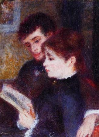 Pierre Auguste Renoir, Reading Couple (Aka Edmond Renoir And Marguerite Legrand), 1877