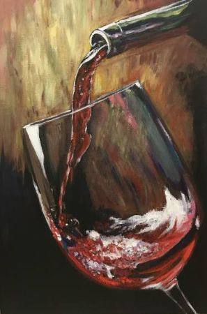 Elena Kryuchkova, Glass of Wine