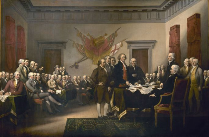 John Trumbull, Declaration of Independence, 1817-18