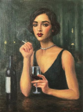 Pat Kelley, Woman With Red Wine