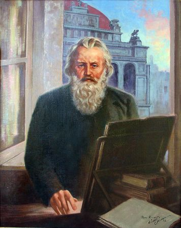 Pearl Routon, Portrait of Johannes Brahms, 1864