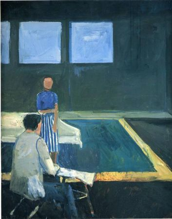 Richard Diebenkorn, Man and Woman In A Large Room, 1957
