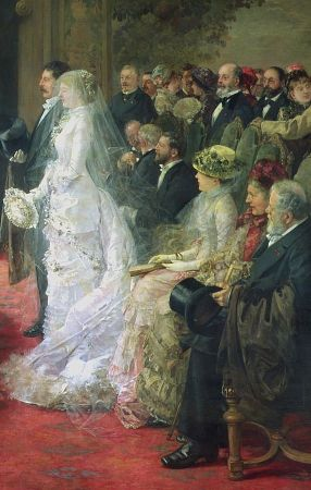 Detail from the Civil Marriage, Henri Gervex, 1881