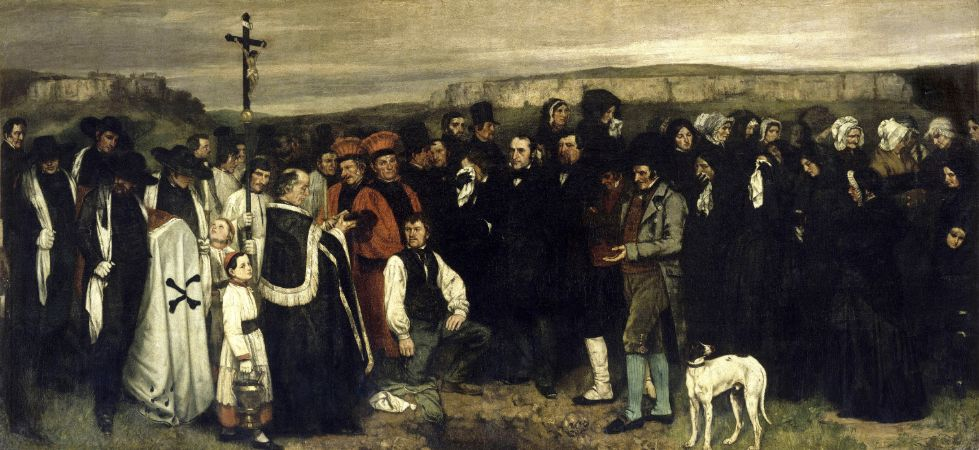 Gustave Courbet, A Burial At Ornans, 1850
