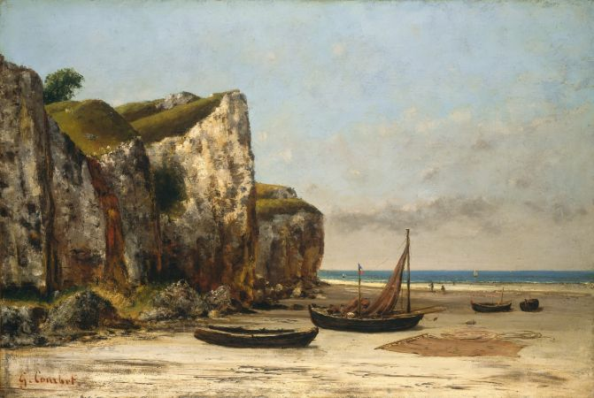 Gustave Courbet, Beach In Normandy, 1875