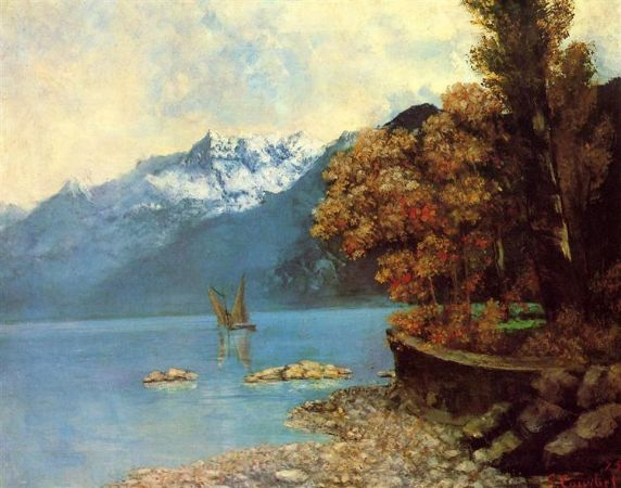 Gustave Courbet, Lake Leman, 1874