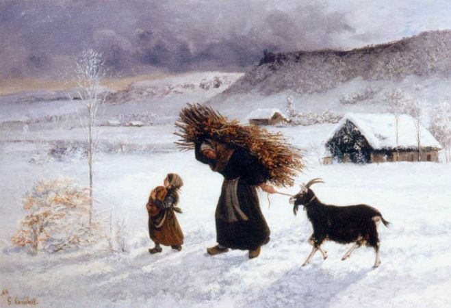 Gustave Courbet, Poor Woman Of The Village, 1866