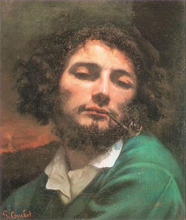 Gustave Courbet, Self Portrait With Pipe, 1849