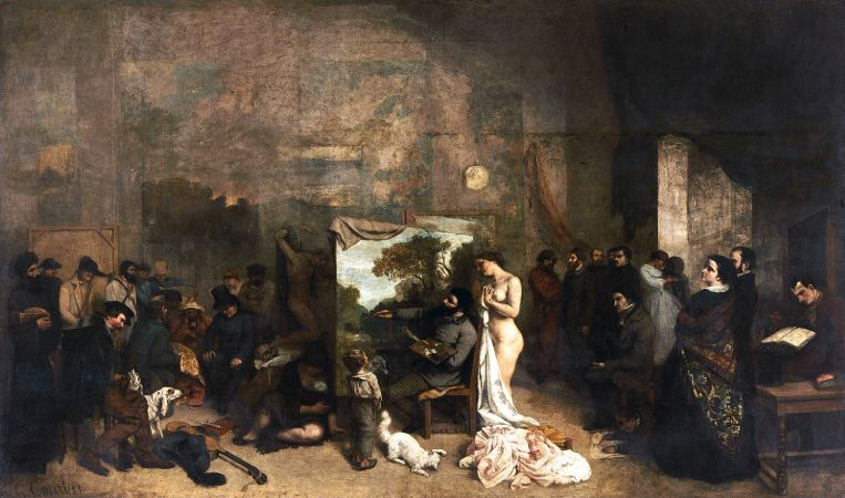 Gustave Courbet, The Artist's Studio, 1855