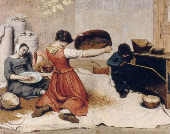 Gustave Courbet, The Grain Sisters, 1855