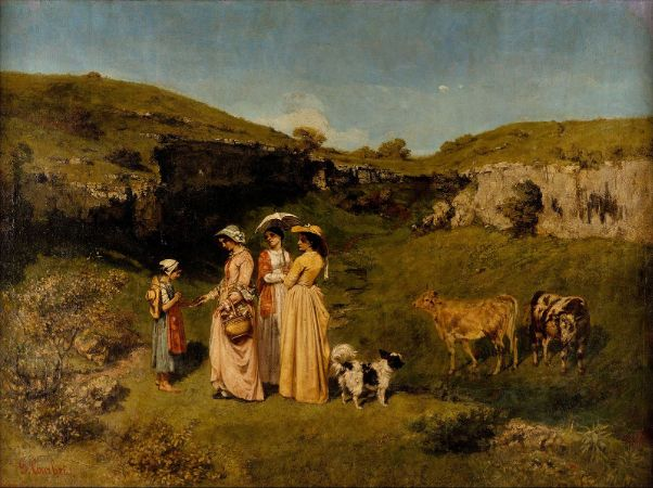 Gustave Courbet, Young Ladies Of The Village, 1852