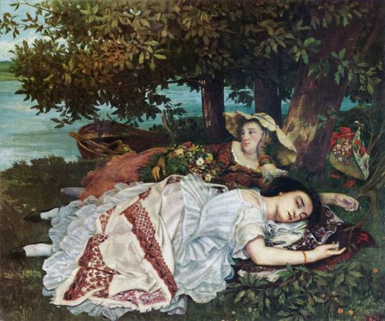 Gustave Courbet, Young Ladies On The Banks Of The Seine, 1857