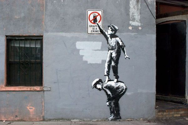 Banksy, Better Out Than In, 2013