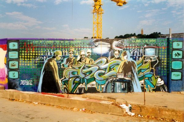 Banksy, For Astek In The Scrubs, Bristol, 1998