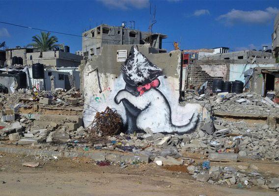 Banksy, Kitten, Gazze, 2015