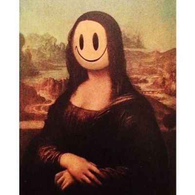 Banksy, Mona Lisa With A Smiley, 2004