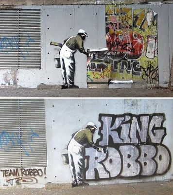 banksy king robbo