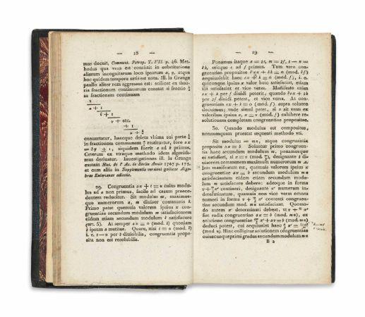 gauss, Disquisitiones arithmeticae
