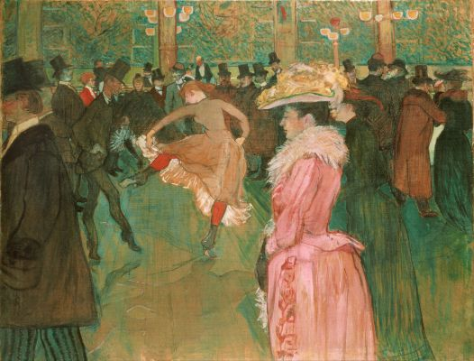 Henri de Toulouse-Lautrec, At the Moulin Rouge, The Dance, 1890