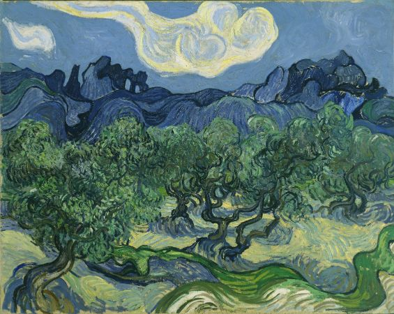 Van Gogh, Olive Trees In A Mountainous Landscape, 1889