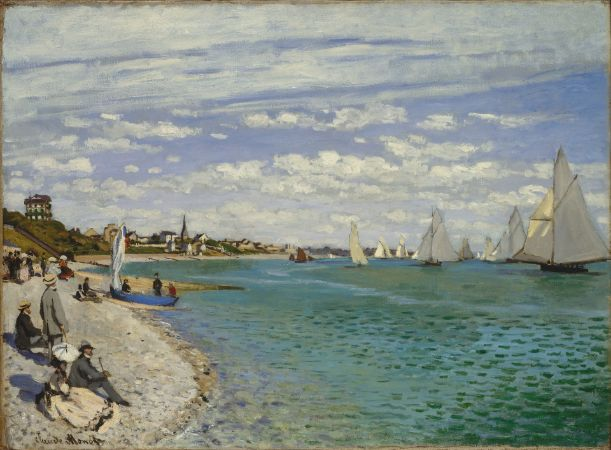 Claude Monet, Regatta at Sainte-Adresse, 1867