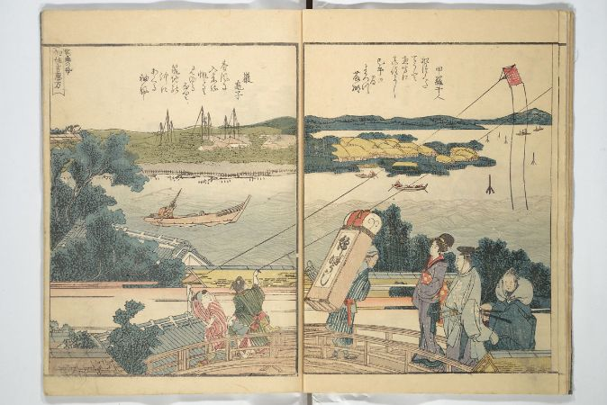 Panoramic Views of Both Banks of the Sumida River At A Glance, 1806