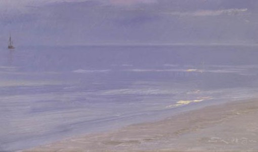 Peder Severin Krøyer, Skagen Beach In Moonlight, 1899