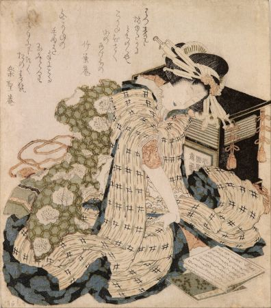 hokusai, Courtesan Asleep, 1800