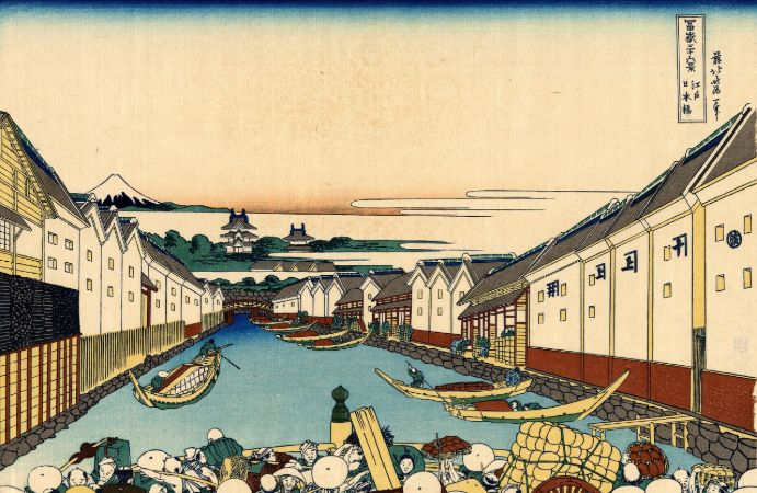 hokusai, Nihonbashi bridge in Edo