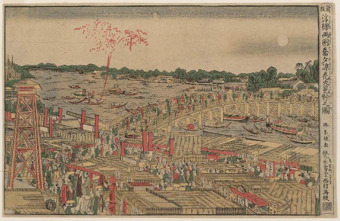 hokusai, fireworks