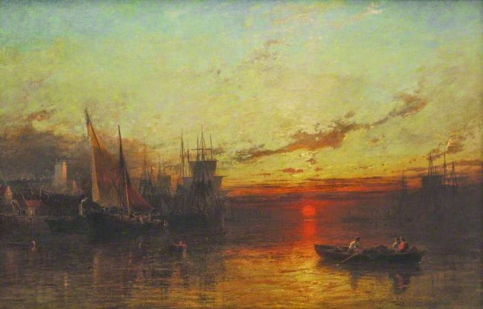 James Francis Danby, The Thames at Sunset