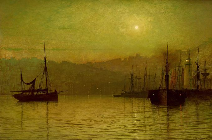 John Atkinson Grimshaw, Calm Waters, Scarborough
