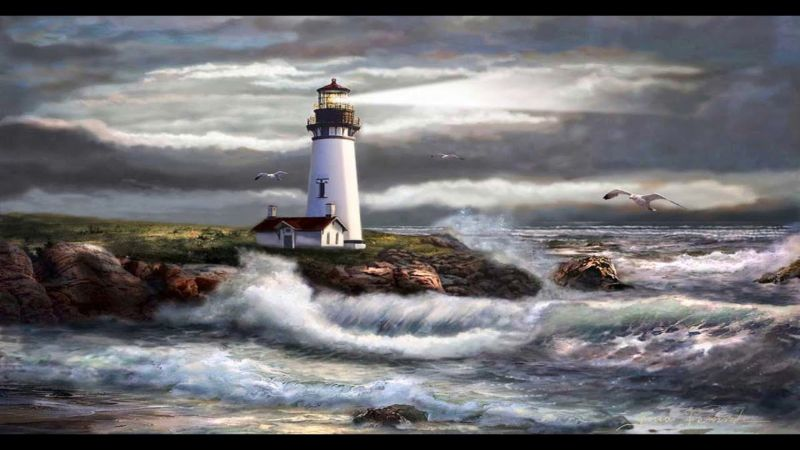 Regina Femrite, Oregon Lighthouse Beam Of Hope I