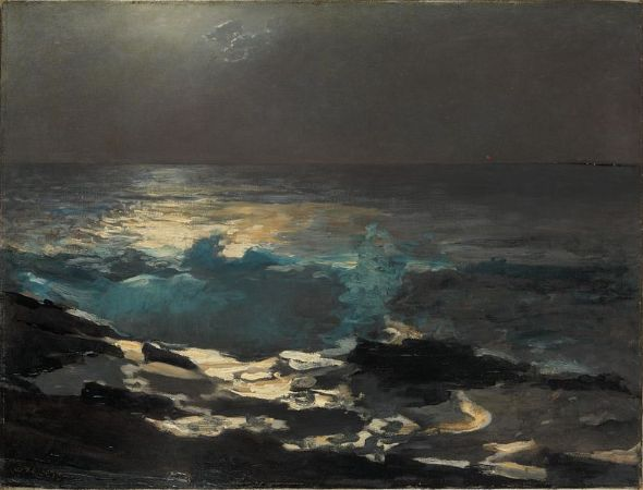 Winslow Homer, Moonlight, Wood Island Light