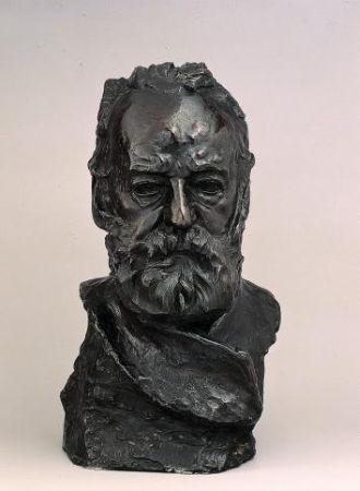 Auguste Rodin, Buste de Victor Hugo dit, à l'illustre maître, 1883