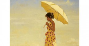 Jack Vettriano, Girl and Parasol