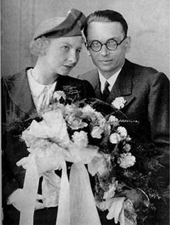 Karısı Adele Nimbursky ile
