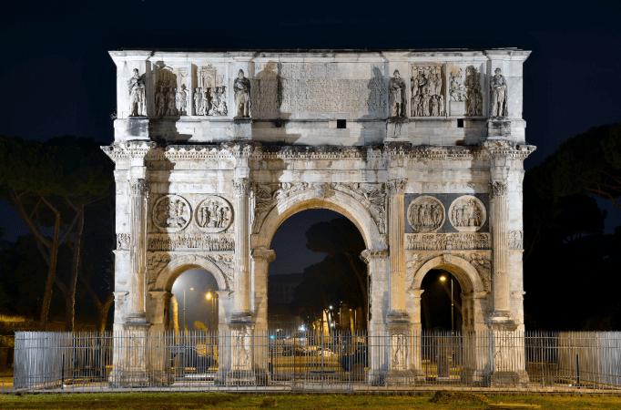 Konstantin Kemeri (Arco di Costantino), Roma, İtalya