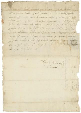 Machiavelli'nin 1516 tarihli mektubu