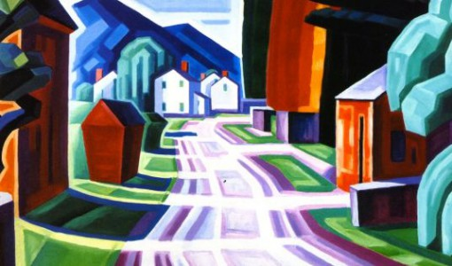 Oscar Bluemner, Form and Light, Motif in West New Jersey (Beattiestown), 1914 (1)