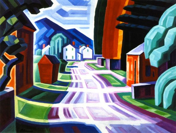 Oscar Bluemner, Form and Light, Motif in West New Jersey (Beattiestown), 1914