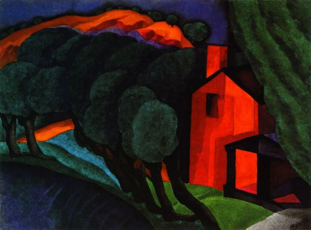 Oscar Bluemner, Glowing Night, 1924