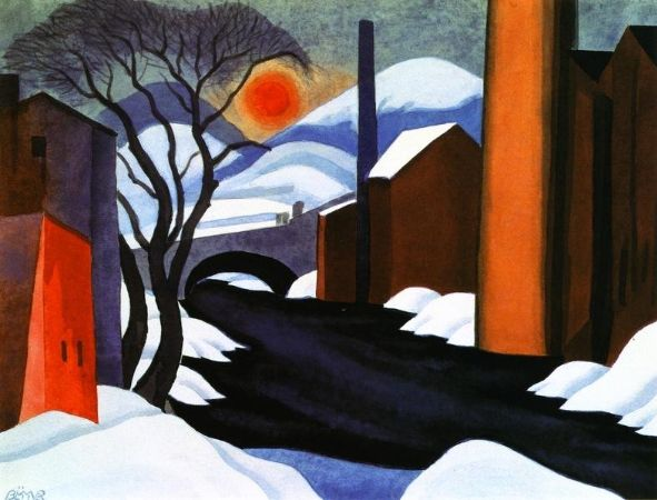 Oscar Bluemner, Mill Creek (also known as Winter Sun), 1925