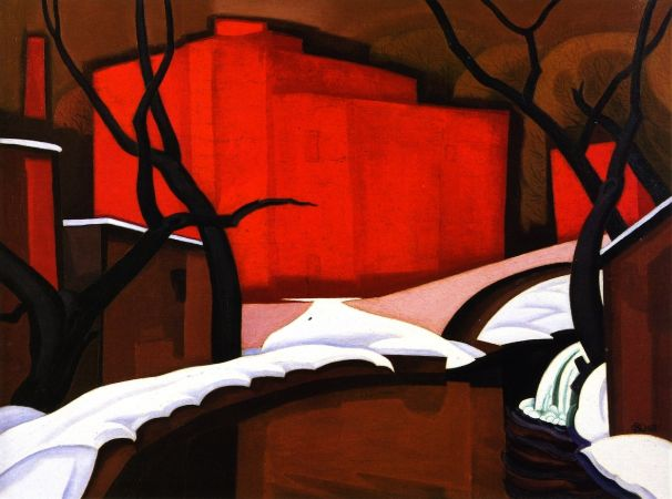 Oscar Bluemner, Red Port In Winter, 1922