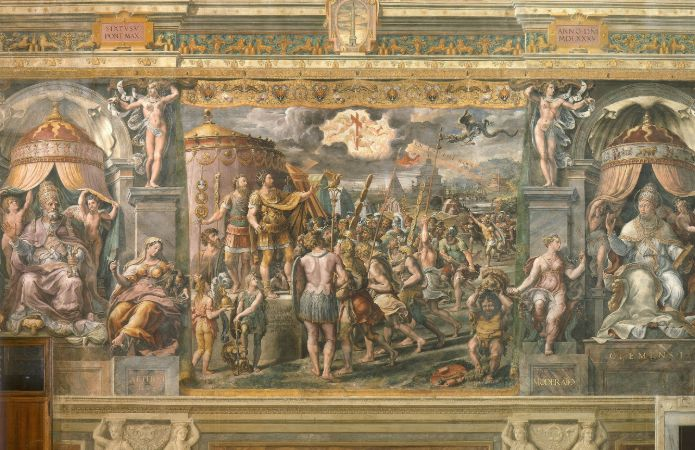Raphael, Constantine's Vision of the Cross, 1508