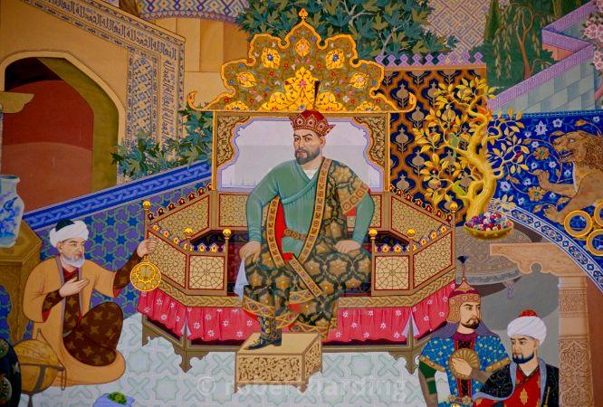 Timur ve İbn-i Hâldun'u gösteren bir minyatür