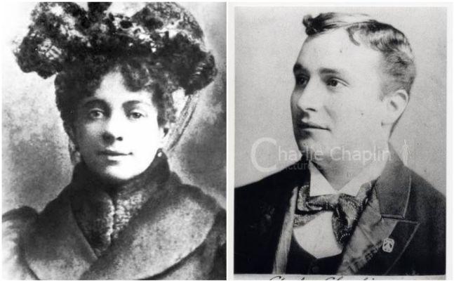 Charlie Chaplinin annesi ve babası